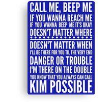 Call me, beep me in white Canvas Print