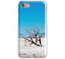 dead tree at salton sea iPhone Case/Skin