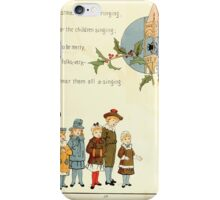 The Glad Year Round for Boys and Girls by Almira George Plympton and Kate Greenaway 1882 0065 Christmas Bells Ringing iPhone Case/Skin
