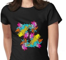 Two Koi fish Womens Fitted T-Shirt