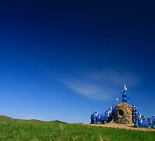 Ovoo, Blue on Blue, Mongolia by Adam Martin