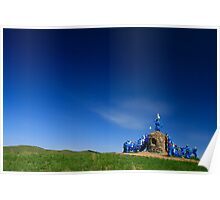 Ovoo, Blue on Blue, Mongolia Poster