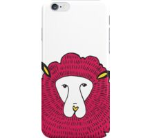 graphical illustration of sheep iPhone Case/Skin