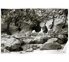 Caves and Rock Formations Poster