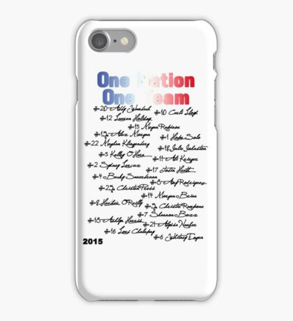 One Nation One Team | USWNT (version 2) iPhone Case/Skin