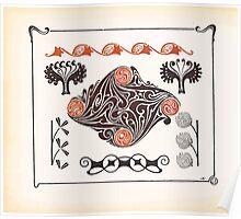 Maurice Verneuil Georges Auriol Alphonse Mucha Art Deco Nouveau Patterns Combinaisons Ornementalis 0040 Poster