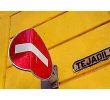 Bent no entry sign, Havana, Cuba Photographic Print