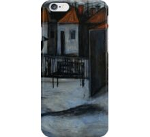 crow and the woman on the melbourne train station.. iPhone Case/Skin