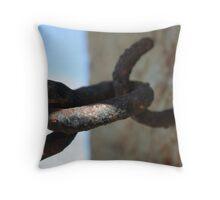 Rusty Chain Throw Pillow