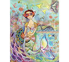 Vintage mermaid Photographic Print