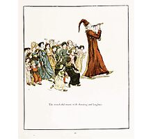 The Pied Piper of Hamlin Robert Browning art Kate Greenaway 0044 Wonderful Music and Shouting Laughter Photographic Print