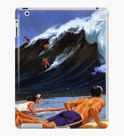 Hawaii Vintage Travel Poster Restored iPad Case/Skin