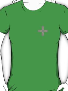 Celtic Cross in Purple and Lime T-Shirt