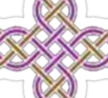 Celtic Cross in Purple and Lime Sticker