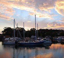 Tweed Marina Sunset by Graham E Mewburn