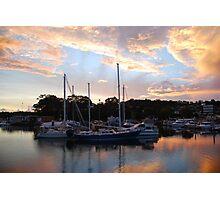 Tweed Marina Sunset Photographic Print