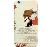 The Glad Year Round for Boys and Girls by Almira George Plympton and Kate Greenaway 1882 0030 Pretty Miss Jenny iPhone Case/Skin