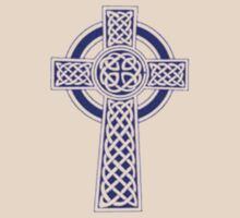 "Celtic ""High Cross"" Blue Tattoo T-Shirt"