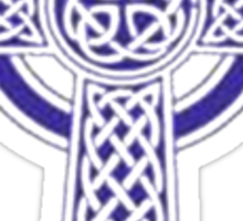 "Celtic ""High Cross"" Blue Tattoo Sticker"