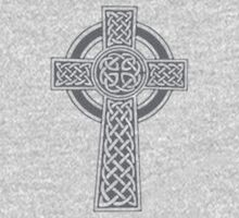 Celtic High Cross Greyscale Kids Clothes