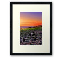 North Beach At Sunset  Framed Print