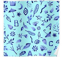 - Blue watercolor things 2 - Poster
