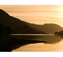 Sunset over the Scottish Highlands Photographic Print