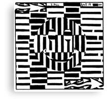 Smiley Face Illustion Maze Canvas Print