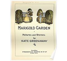 Marigold Garden Pictures and Rhymes Kate Grenaway 1900 0007 Title Plate 2 Poster