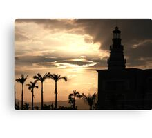 The Light and the lighthouse Canvas Print