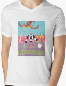 Robot Landscaper Mens V-Neck T-Shirt