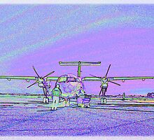 Dash 8 aircraft with soft pastel colours added by goldenstar