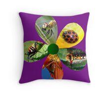 Bug Flower 1 Throw Pillow