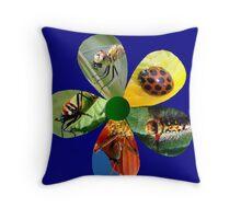 Bug Flower 4 Throw Pillow