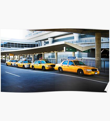 Taxi cabs at JFK Poster