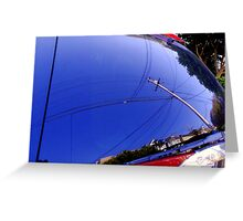 The Fish-Eye Sky, Grounded Greeting Card