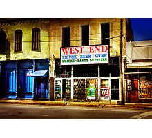 West End Alcohol store... Photographic Print