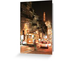 Rush hour Oporto Portugal Greeting Card