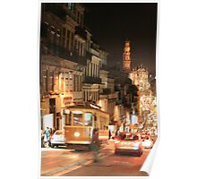 Rush hour Oporto Portugal Poster