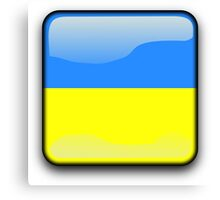 Ukraine Flag, Icon Canvas Print