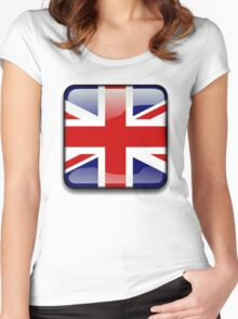 United Kingdom Flag, UK Icon Women's Fitted Scoop T-Shirt