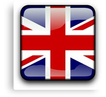 United Kingdom Flag, UK Icon Canvas Print