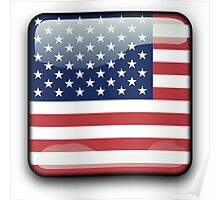 United States Flag, Icon Poster