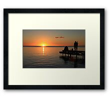Sunset in Mauritius Framed Print