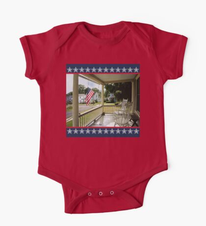 Small Town USA ~ Fourth of July One Piece - Short Sleeve