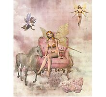 Faeries and Unicorn Photographic Print