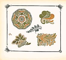 Maurice Verneuil Georges Auriol Alphonse Mucha Art Deco Nouveau Patterns Combinaisons Ornementalis 0038 by wetdryvac