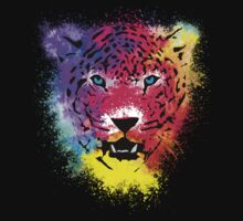 Tiger - Colorful Paint Splatters Dubs - T-Shirt Stickers Art Prints Kids Clothes