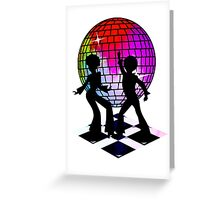 Retro Music DJ! Feel The Oldies! DANCE! Greeting Card