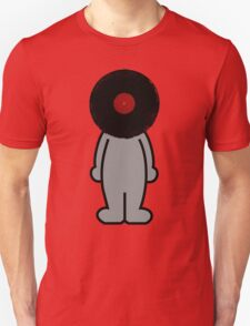 Vinylized!!! Vinyl Records DJ Retro Music Man T-Shirt Stickers Prints T-Shirt